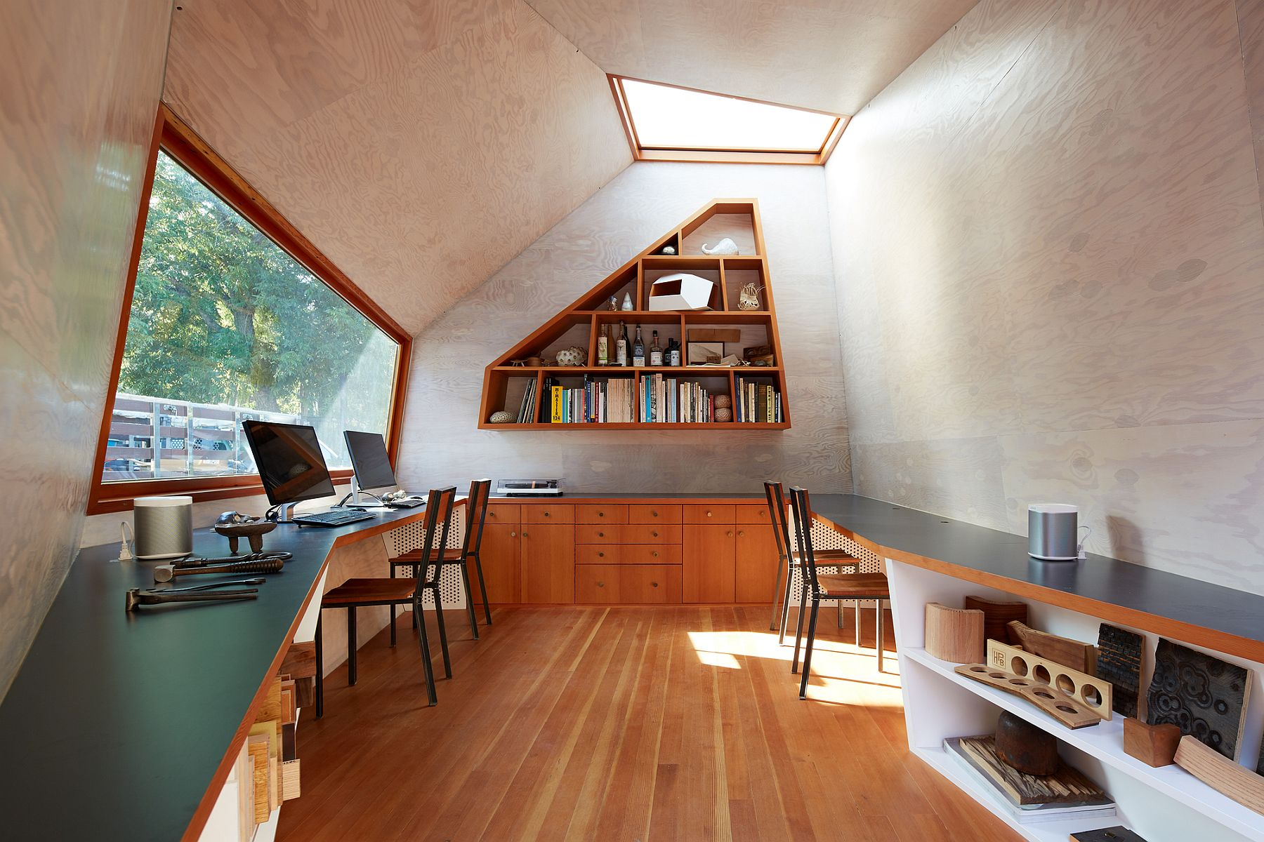 Custom skylight designed to give the interior a flood of natural light