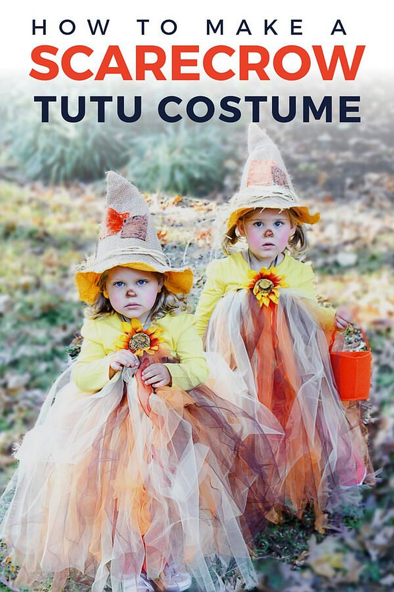 Cute DIY scarecrow tutus make for no-scary Halloween costume for kids