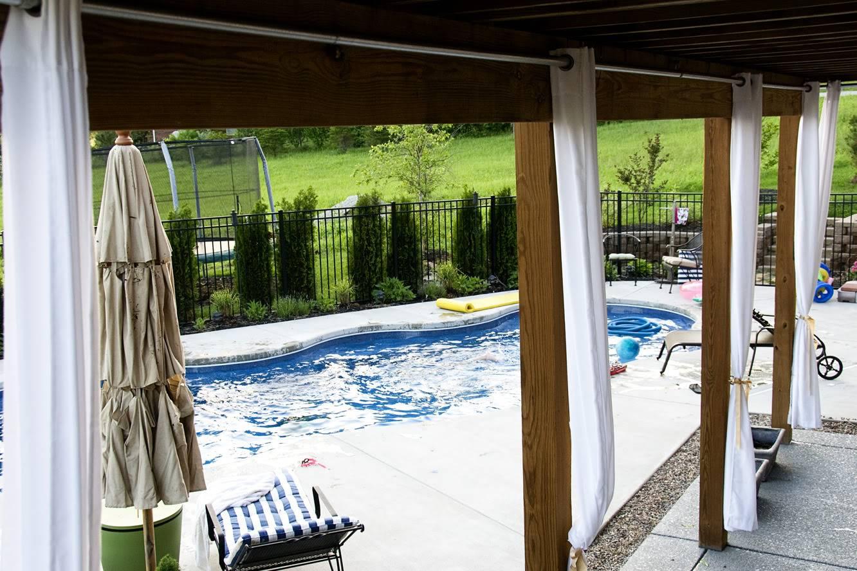 DIY outdoor curtain solution