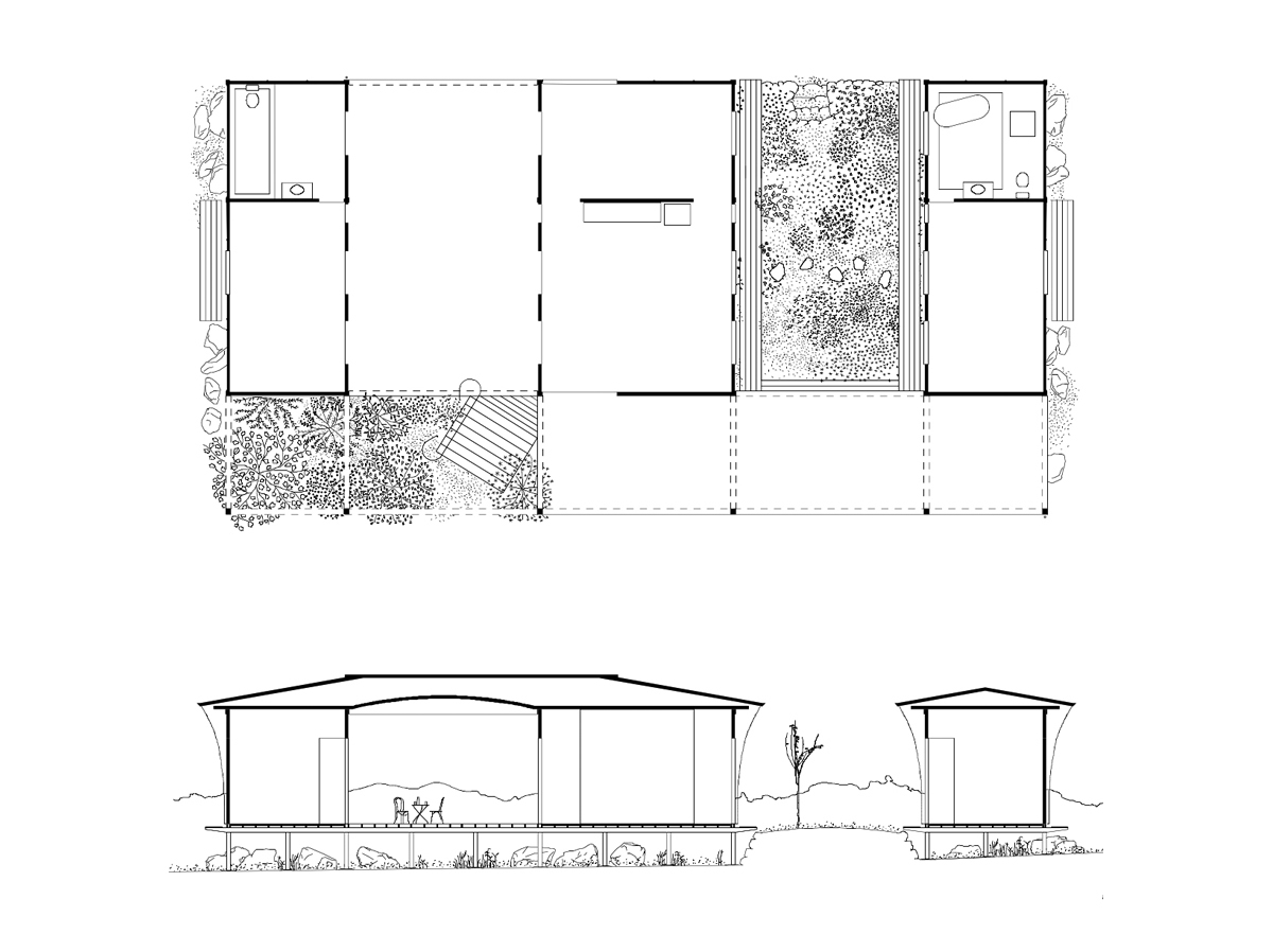Design plan of House with a Guest Room