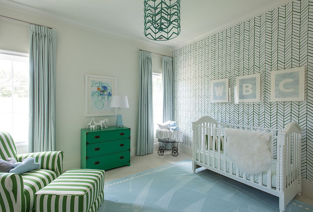 Dresser-and-comfy-sofa-adds-green-to-the-nursery