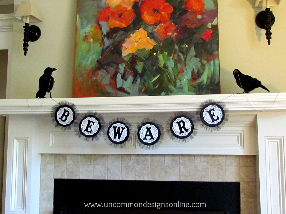 Easy to craft and impactfull Halloween garland idea