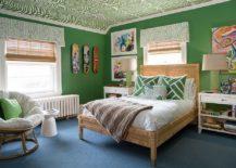 Eclectic-kids-bedroom-full-of-green-217x155