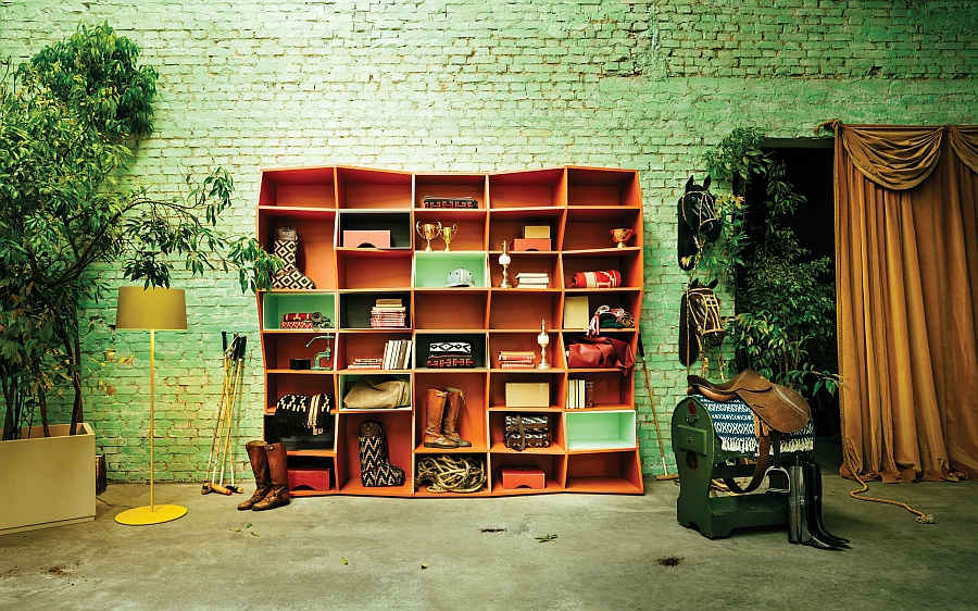 Fabulous ZigZag Bookshelf by Henrique Steyer