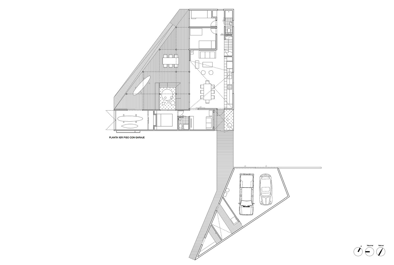 Floor plan of BL 1 and BL 2 House