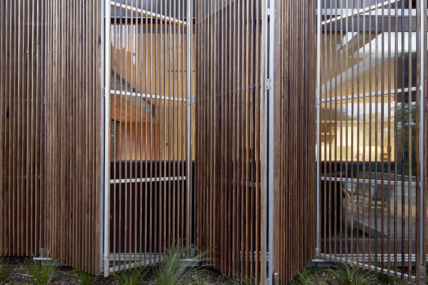 Folding timber screens can be moved out when needed