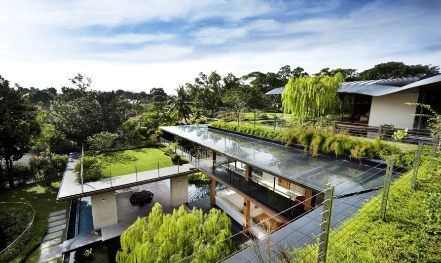 Roof Gardens, Bio-Pond and a World of Inviting Green: Multi-Family Home in Singapore