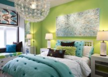 Green-accent-wall-for-the-contemporary-kids-bedroom-in-white-with-pops-of-blue-217x155