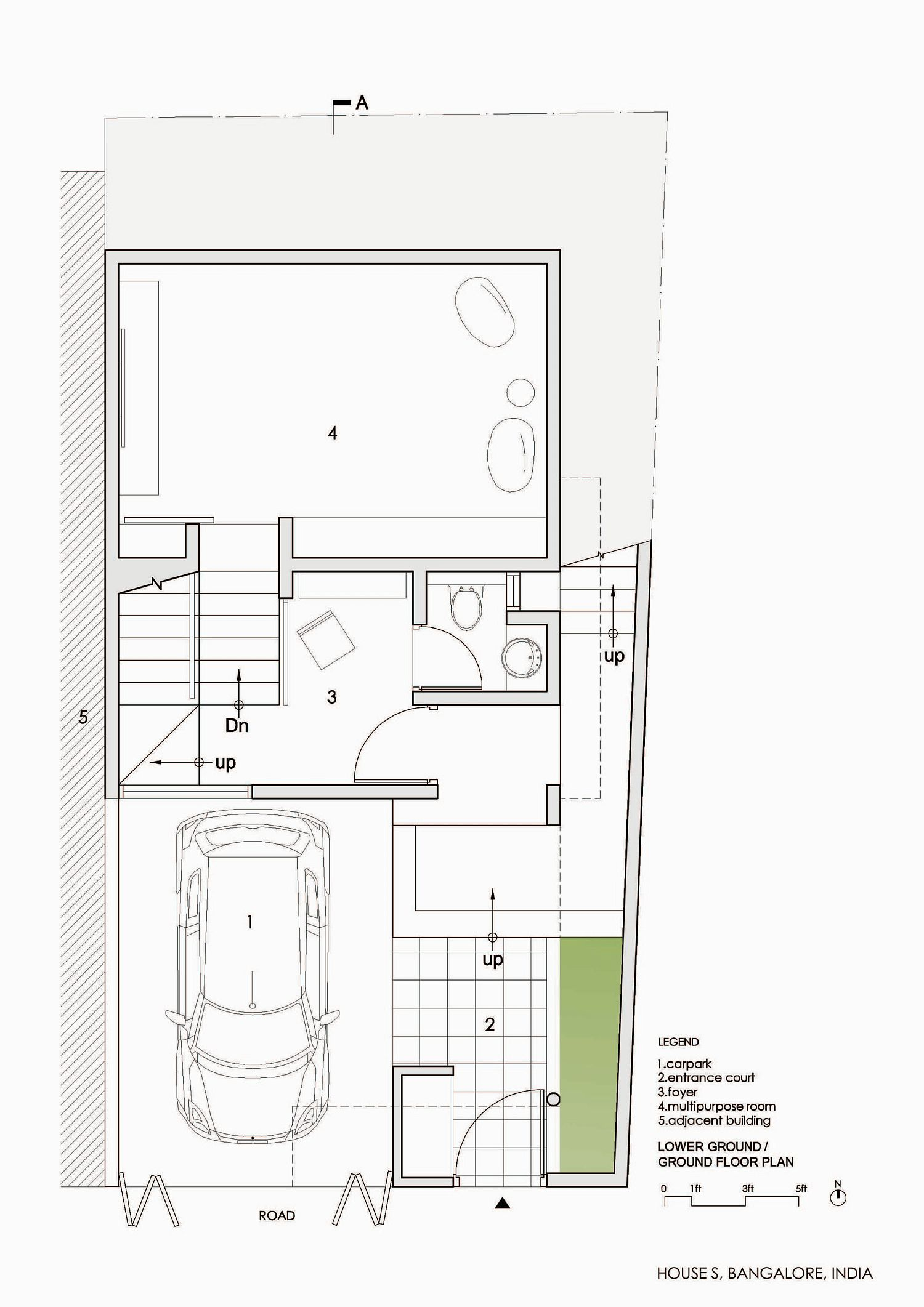 Ground floor plan of House S