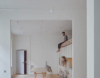 Remodeled Apartment Inside 156 Year Old Building Paints a Picture of Abstract
