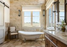 It-is-stone-that-brings-beige-to-this-farmhouse-bathroom-217x155