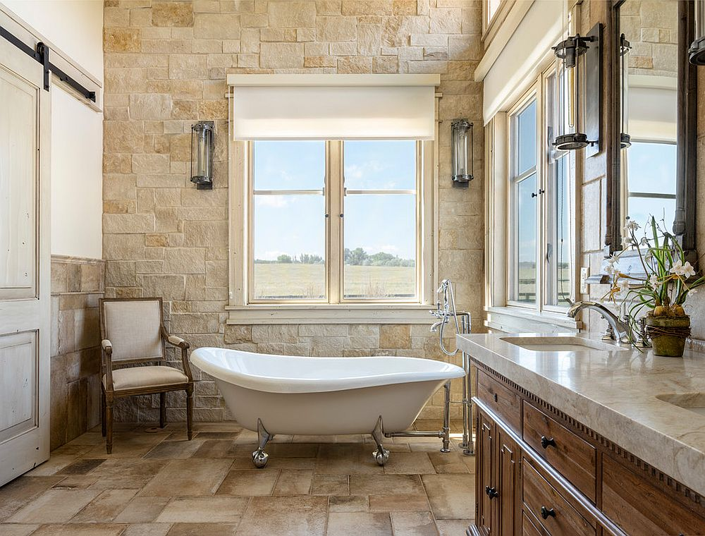 It-is-stone-that-brings-beige-to-this-farmhouse-bathroom