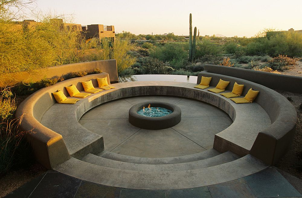 It is the fire pit that defines this entire outdoor space!