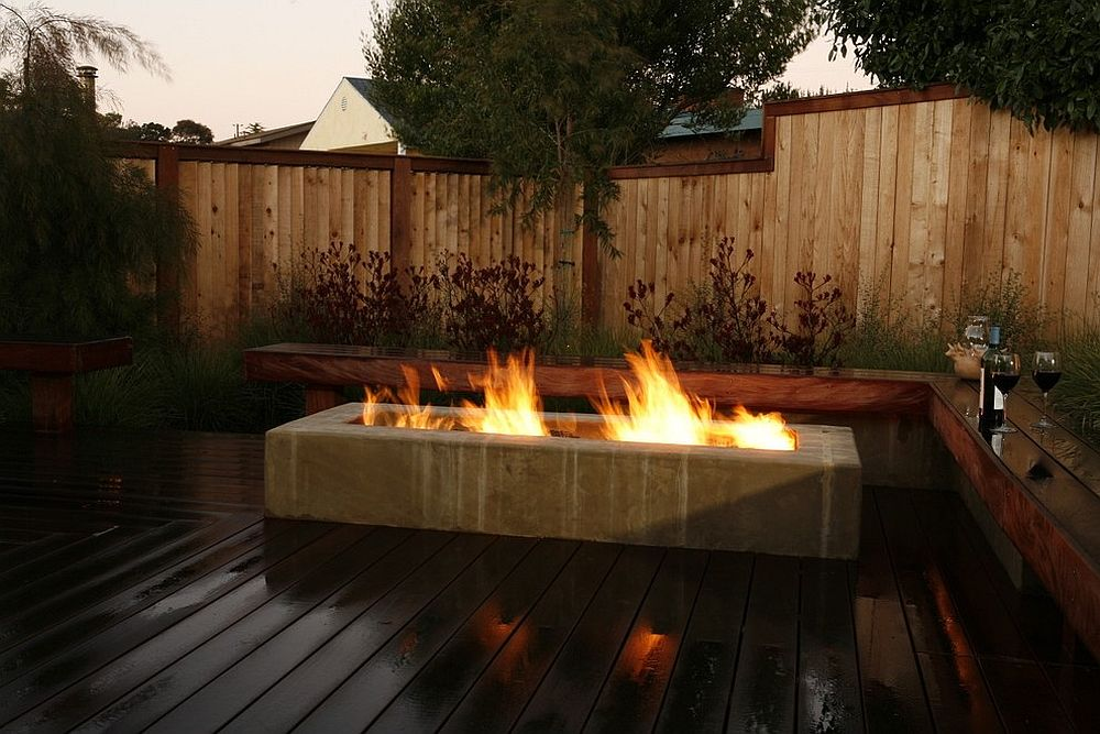 Lean, contemporary take on the classic fire pit
