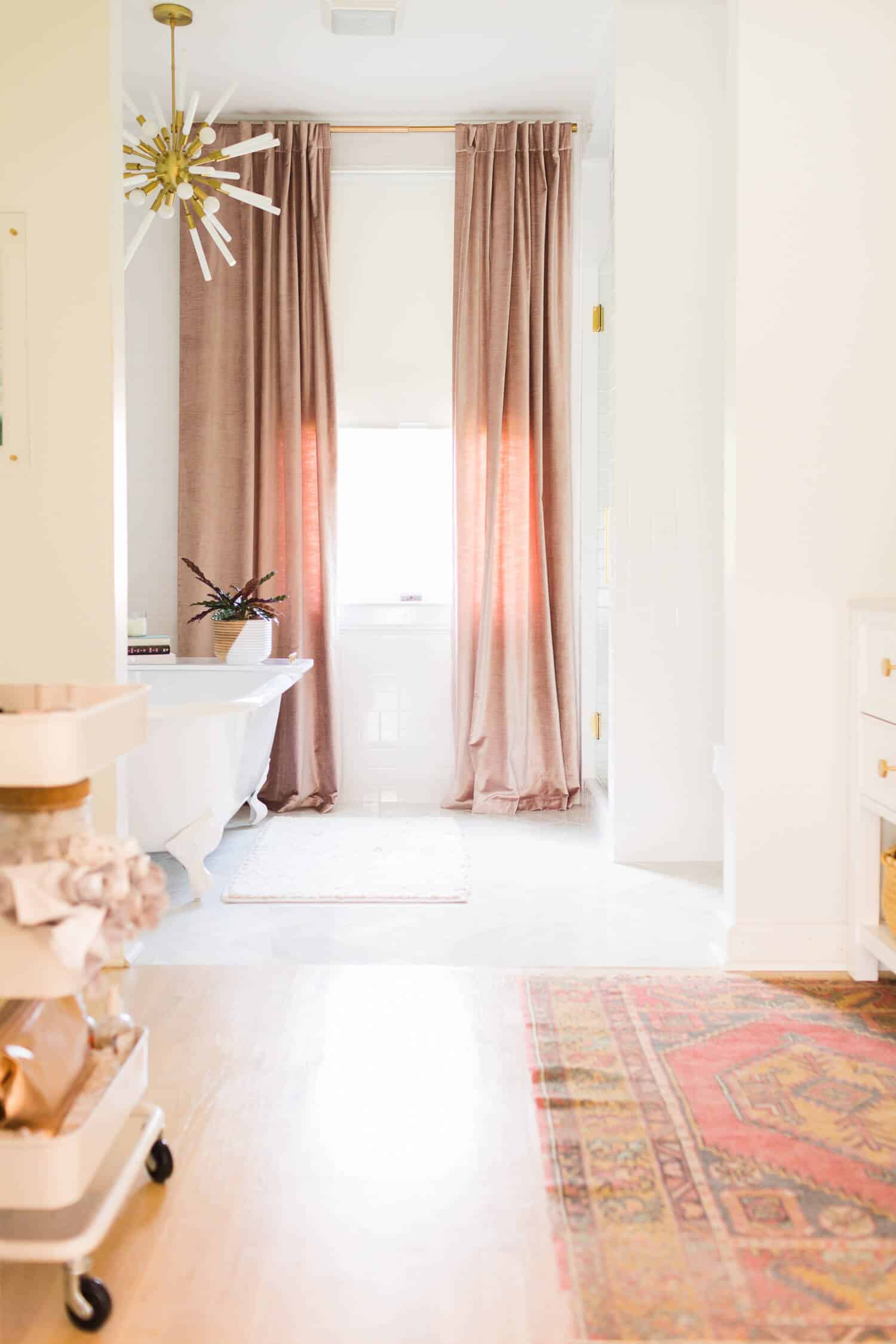 Master bath makeover from A Beautiful Mess