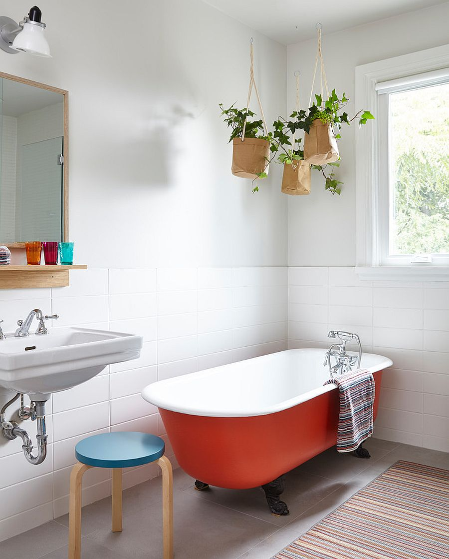 . 25 Trendy and Elegant Ways to Bring Color into the Neutral Bathroom