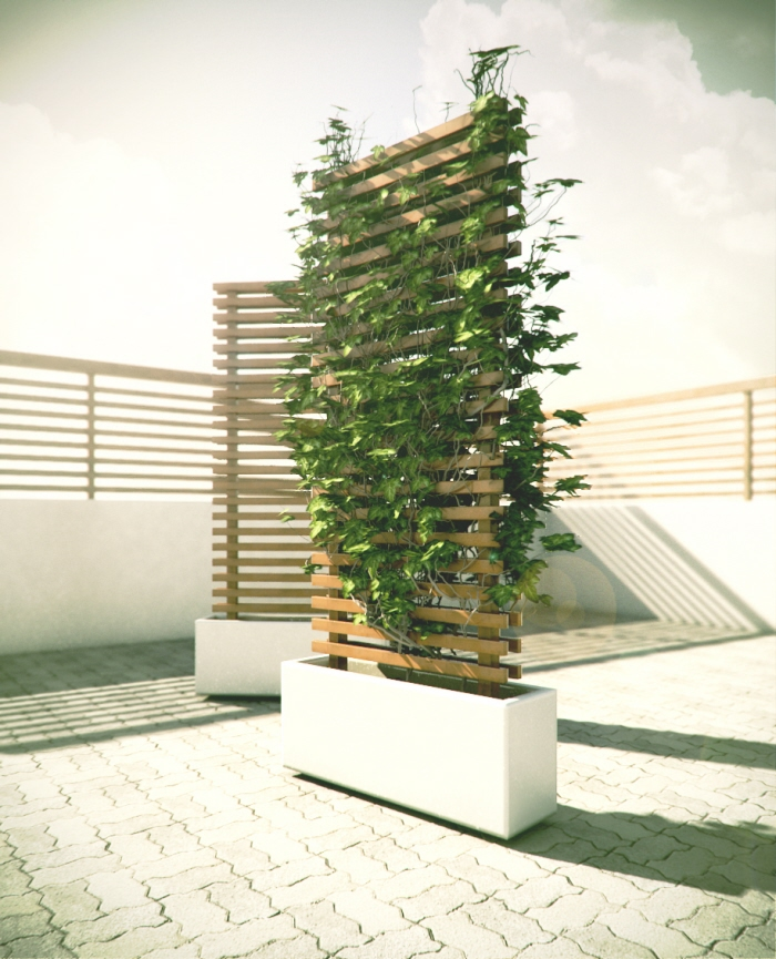 Modern planters and trellises