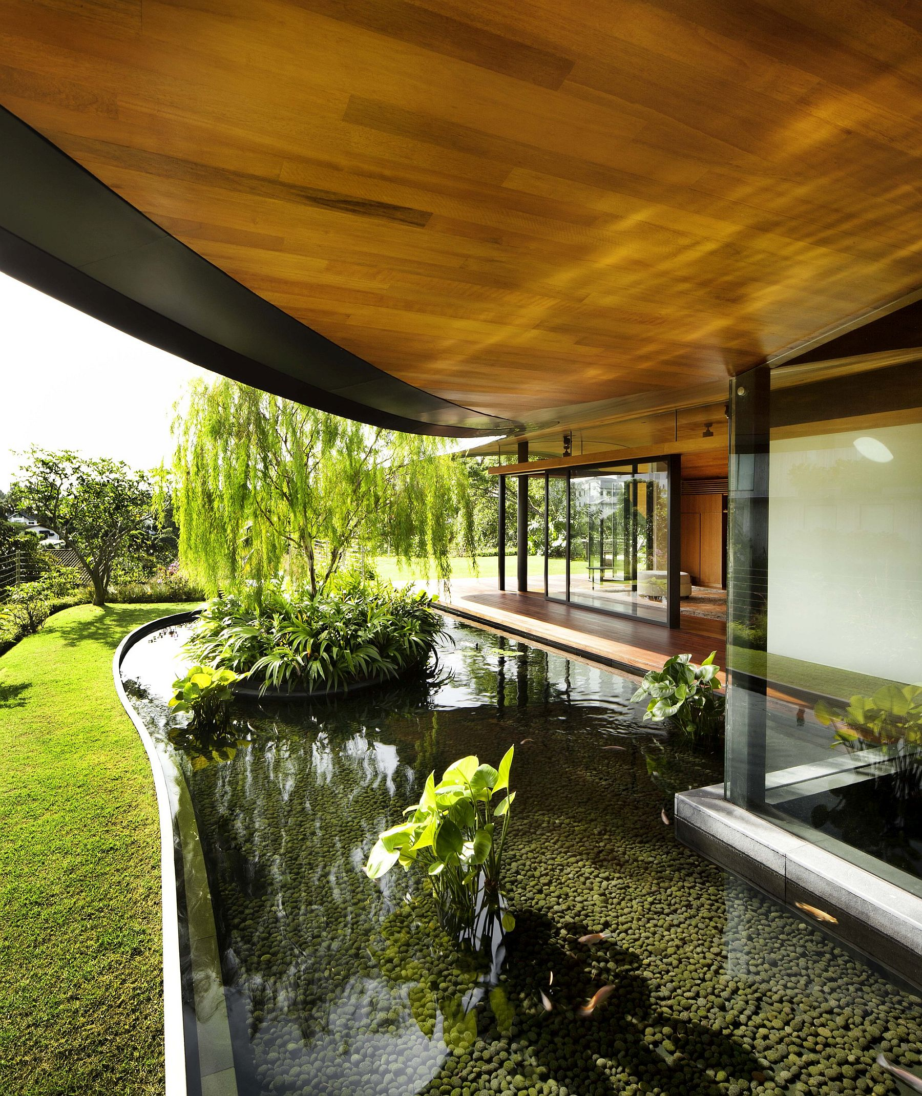 The Sun House By Guz Architects A Hevean Of Green In: Roof Gardens, Bio-Pond And A World Of Inviting Green Await