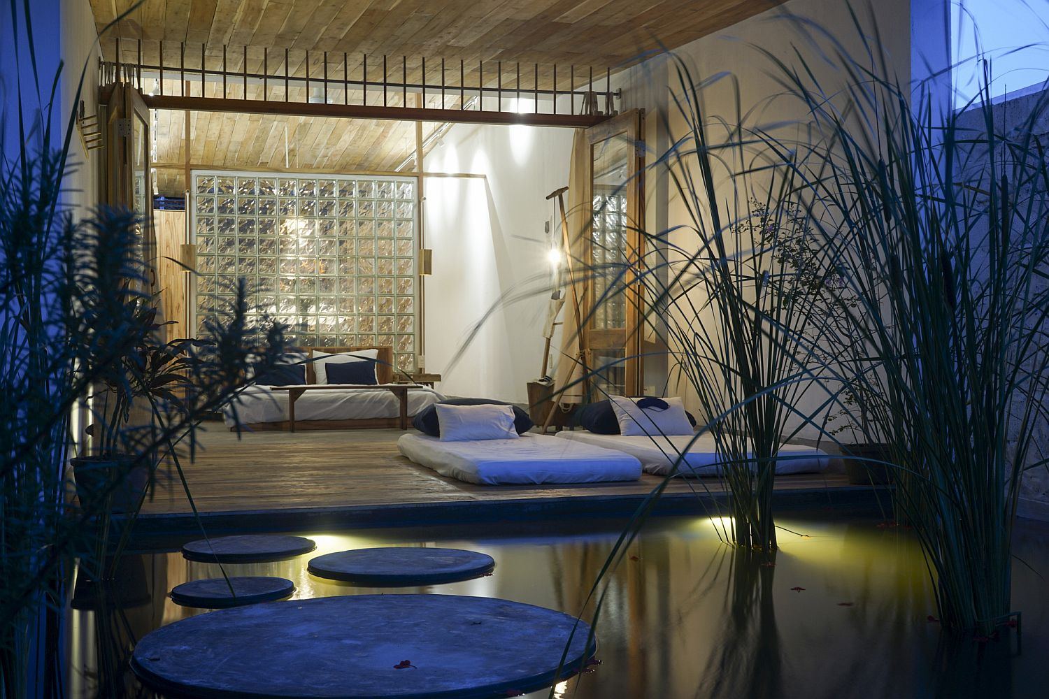 Natural pool and garden turn the lodge into a stunning refuge that takes you closer to nature