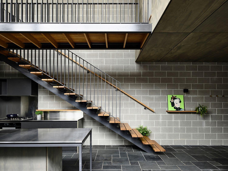 New interior has a dark, industrial vibe full of textural beauty