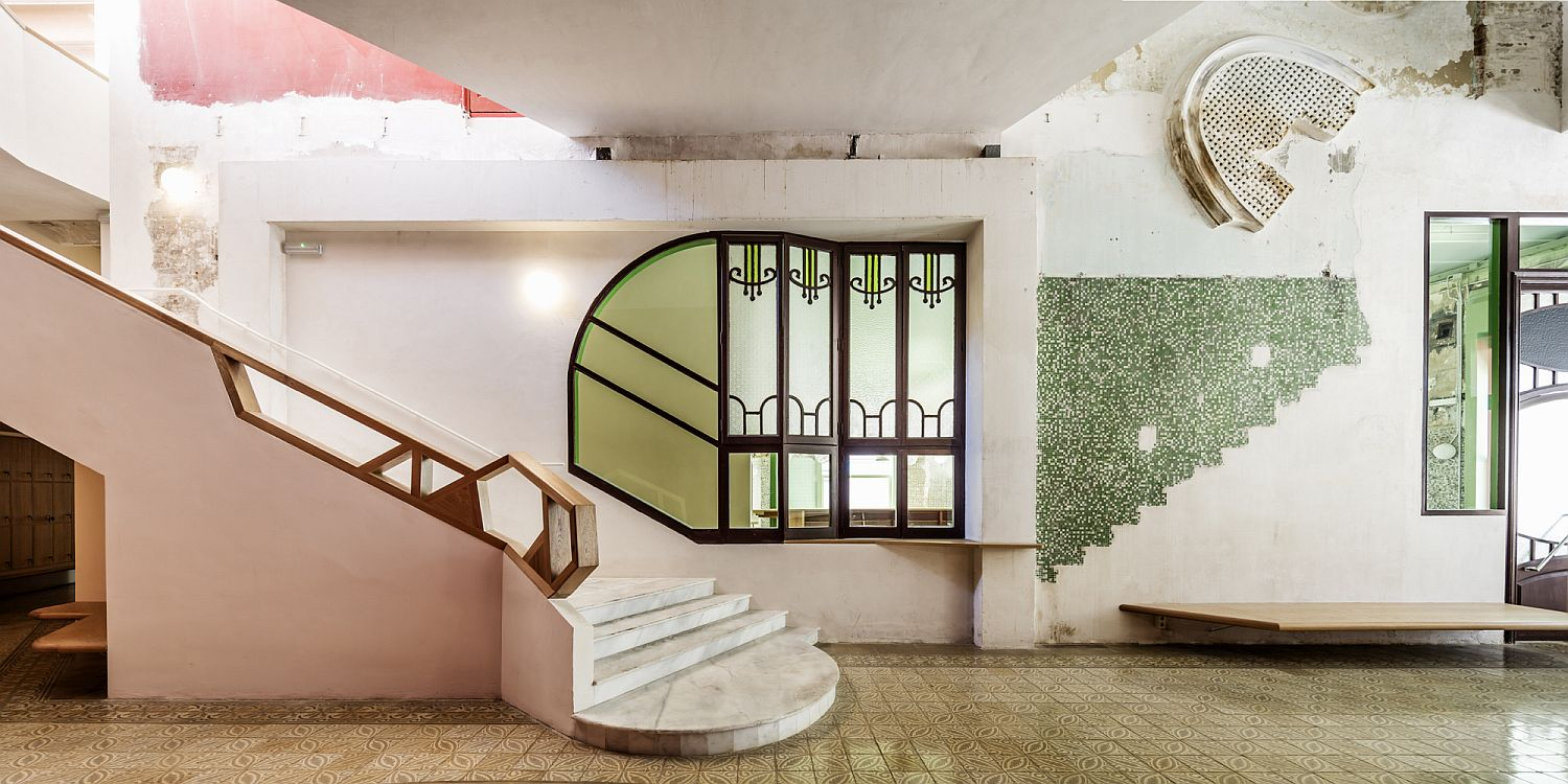 Old Catalan influence meets modernity and ergonomics inside the revamped community center