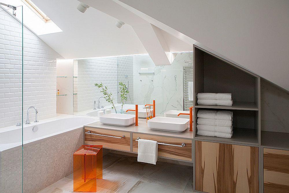 Orange bathroom fixtures are definitely a rarity