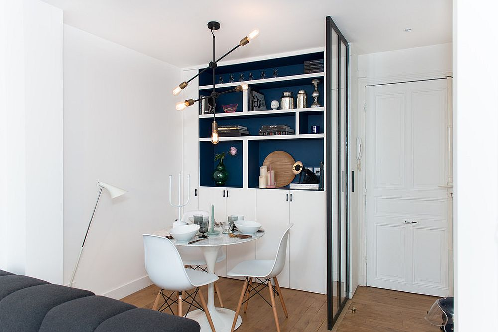 Perfect dining room for two inside the small studio apartment
