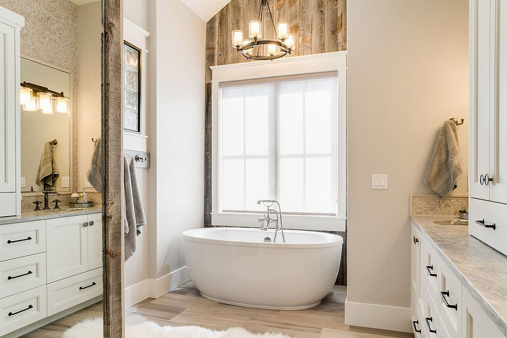 Rustic-bathroom-in-wood-and-beige-is-serene-and-stylish
