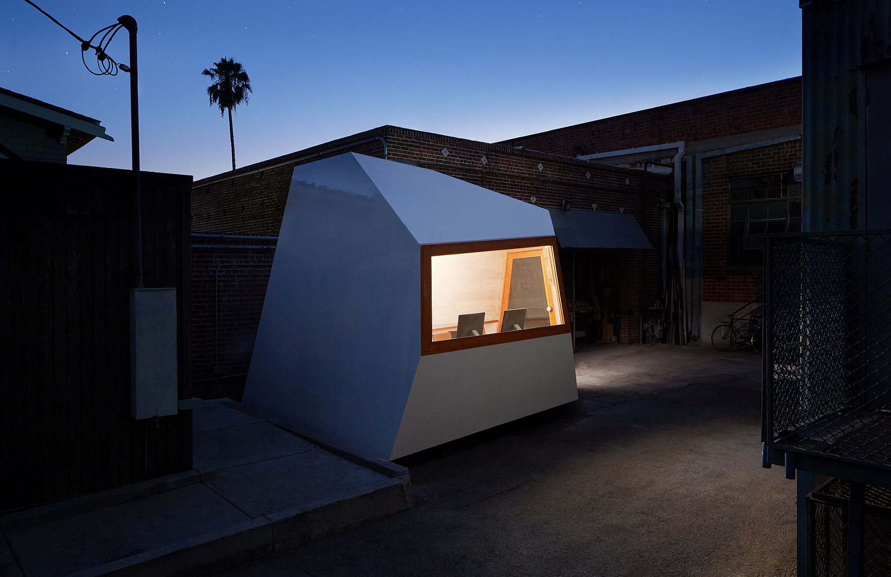 Small, modular structure on wheels can be moved anywhere with ease