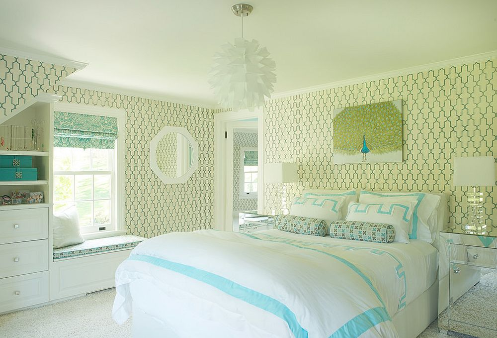 Smart-use-of-yellowish-green-and-a-touch-of-blue-in-the-kids-bedroom