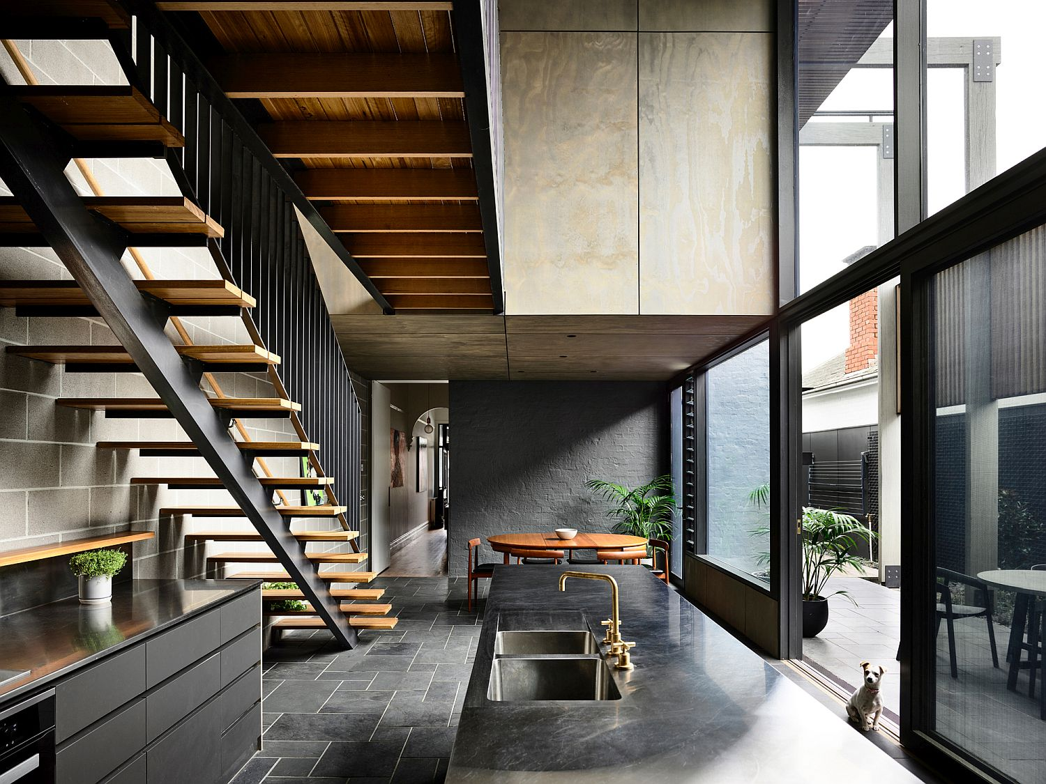 Gorgeous Grays and Industrial Modern Reshape Melbourne Terrace House
