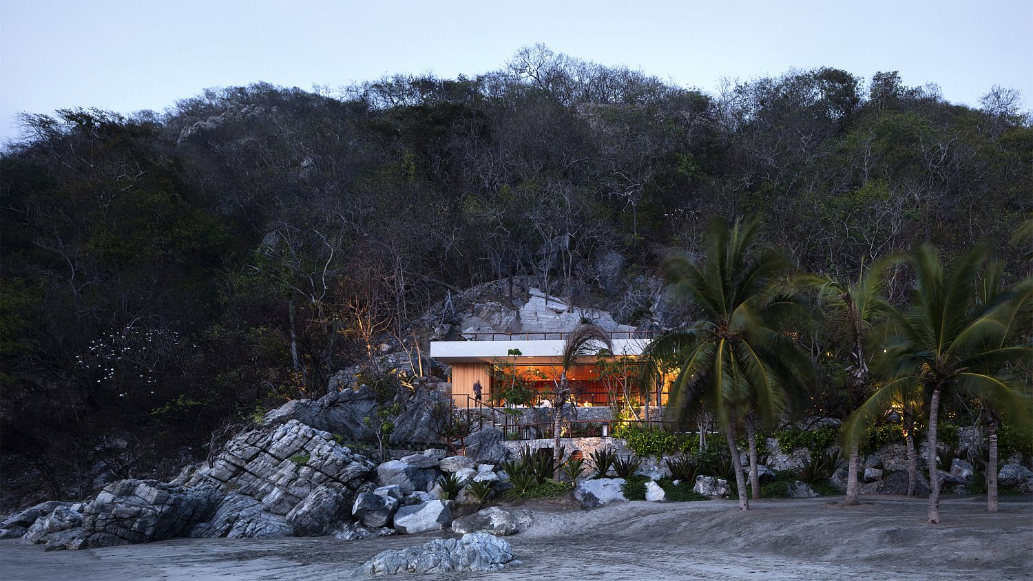 Stunning coastal home in San Juan de Alima, Mexico becomes one with the landscape