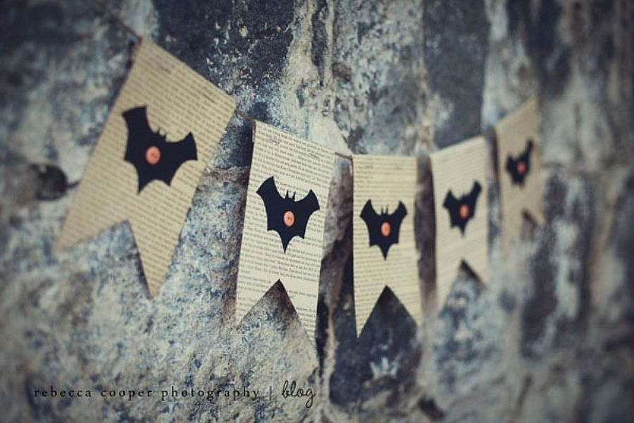 Super-easy vintage Halloween garland idea