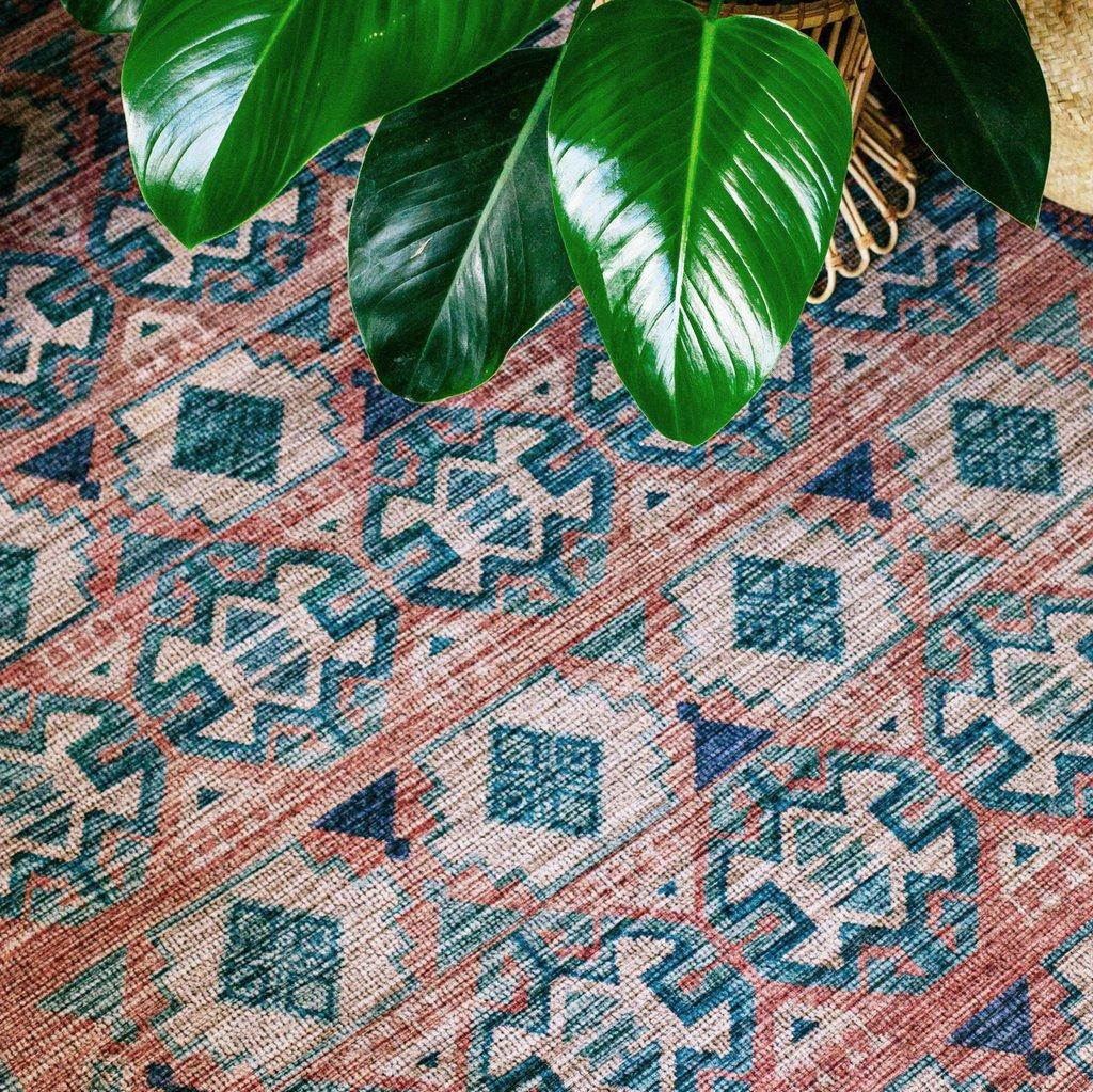 Terracotta rug by Justina Blakeney