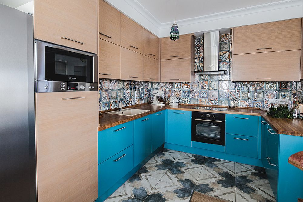 Tiles-add-both-color-and-bold-pattern-to-this-kitchen-in-an-eclectic-fashion