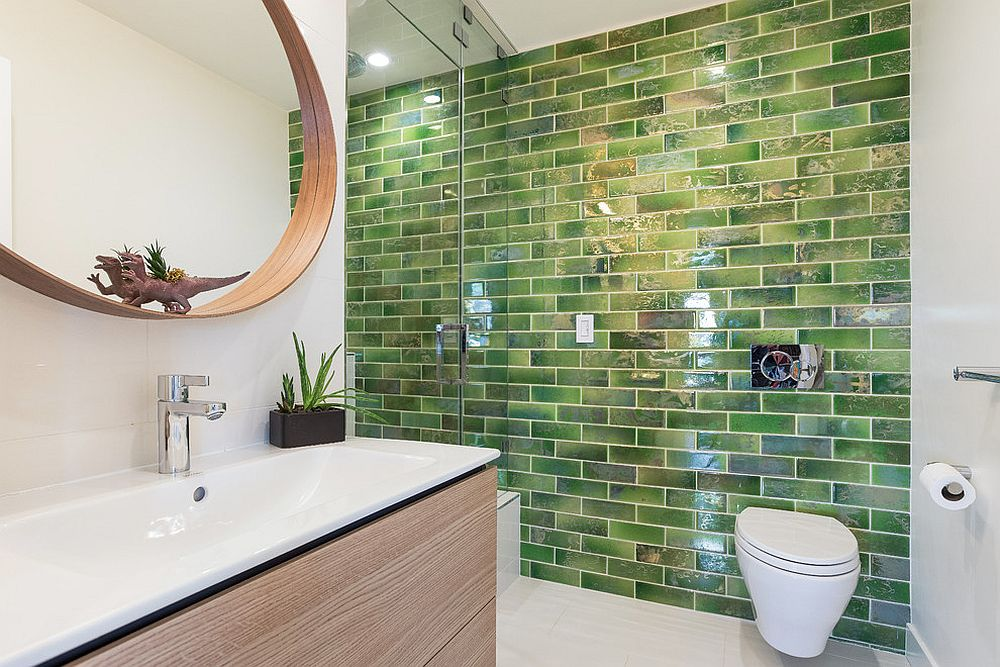 Tiles-bring-green-to-the-bathroom-in-white-and-wood