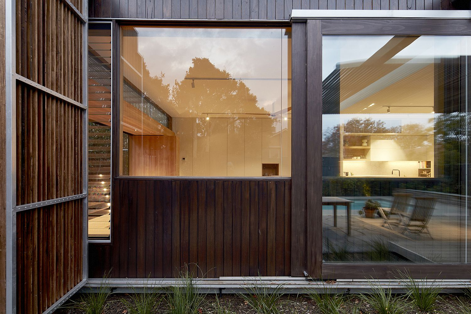 Timber clad exterior of the Screen House