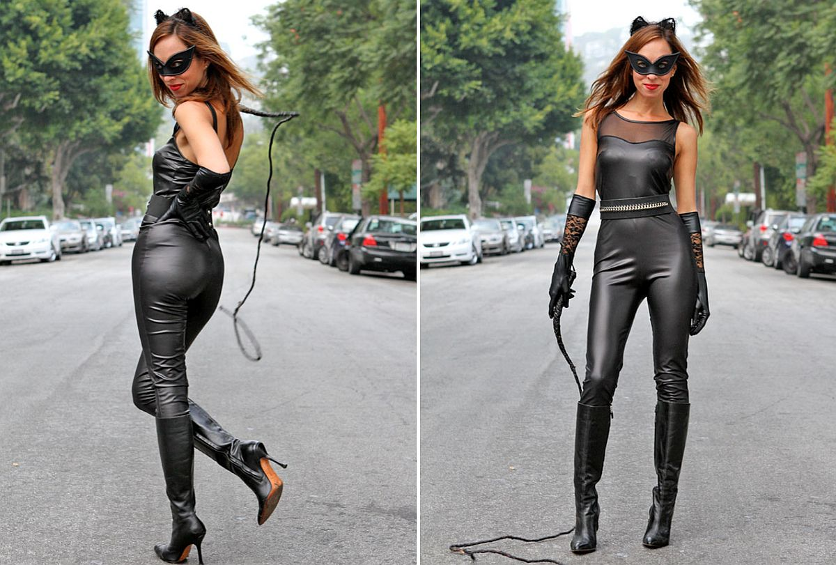 Turn up the heat with the Halloween Cat Woman Costume