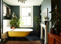 Use-plants-and-dark-backdrop-to-bring-a-more-sophisticated-look-to-the-bathroom-217x155