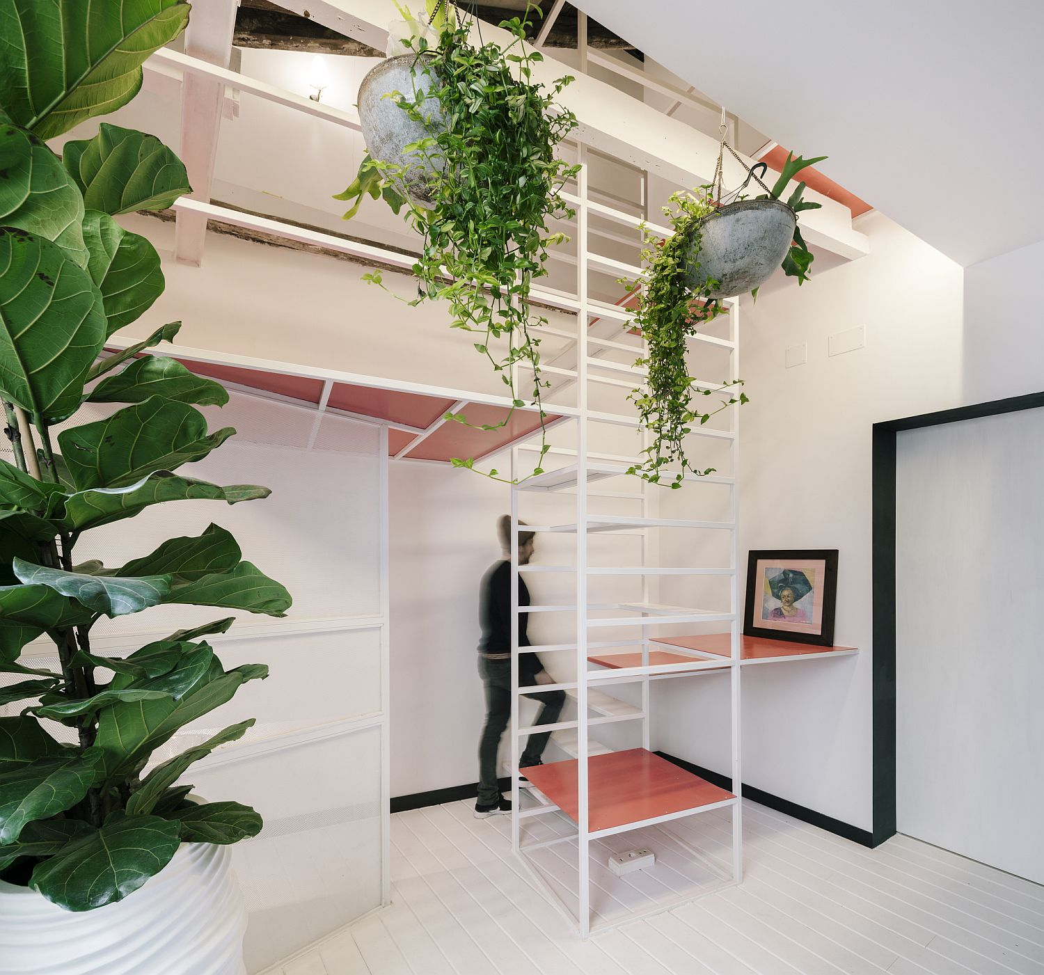 Ultra-Tiny Madrid Apartment with a Multi-Tasking Staircase at its Heart!
