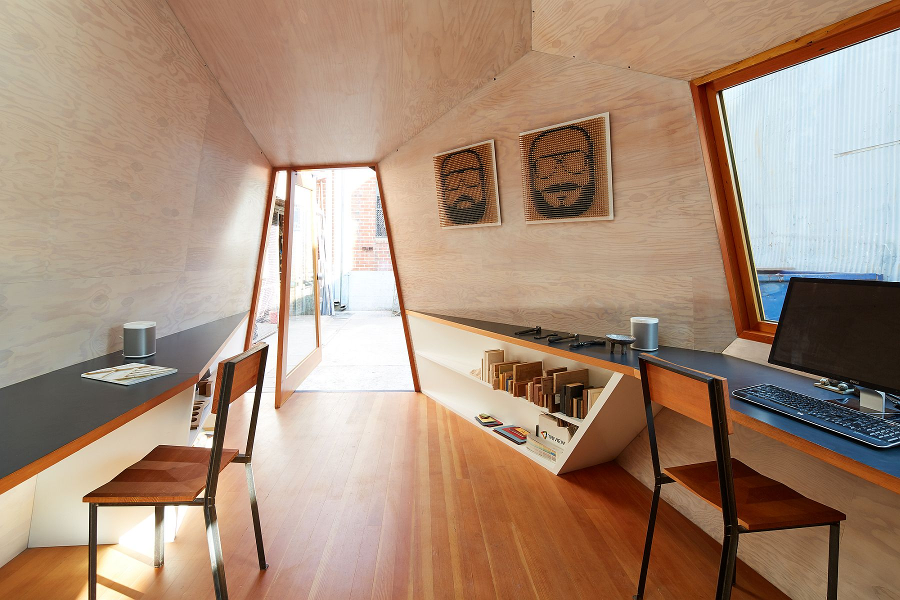 Walls of the Lighthouse move away from rectangles and sqaures to offer new spatial solutions