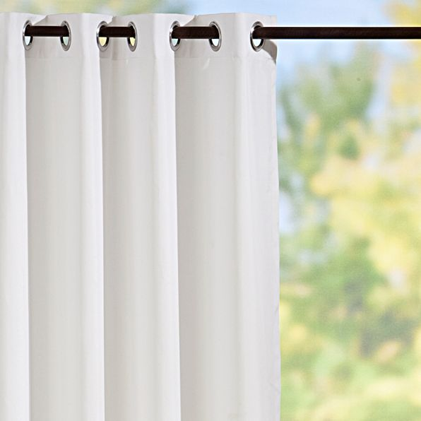 White curtain panels from Improvements