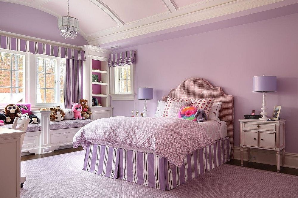 All-purple girls' bedroom for your little princess!
