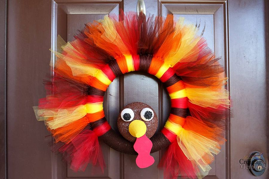 Awesome Turkey Tulle Wreath DIY