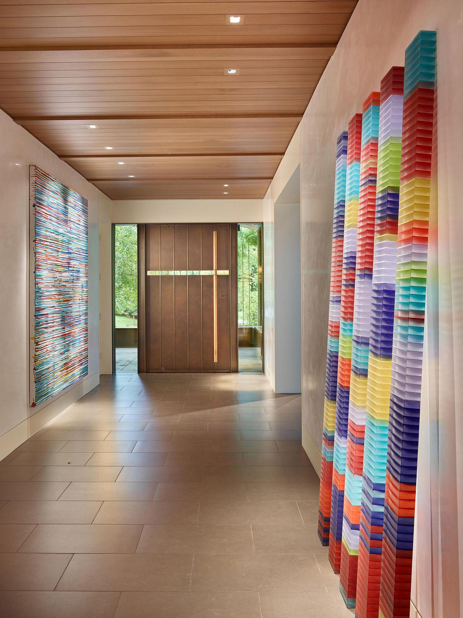 Beautiful Nebraska home defined by art work