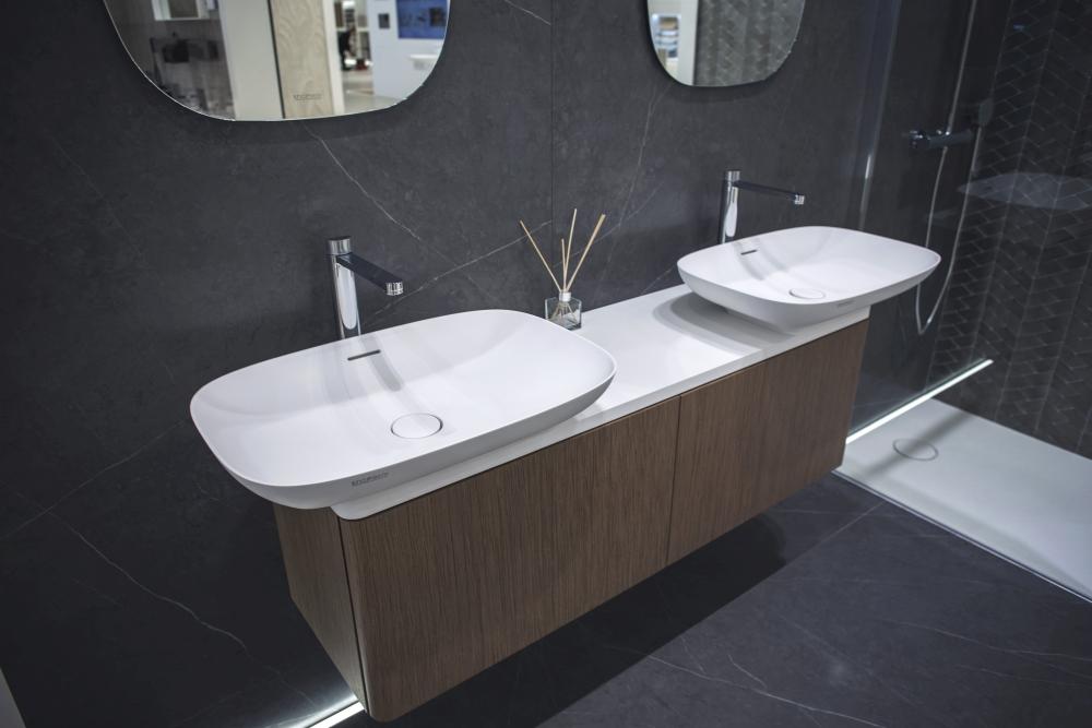 Beautiful double bathroom vanities in white