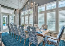 Blue-white-and-chic-beach-style-dining-room-with-vaulted-ceiling-217x155