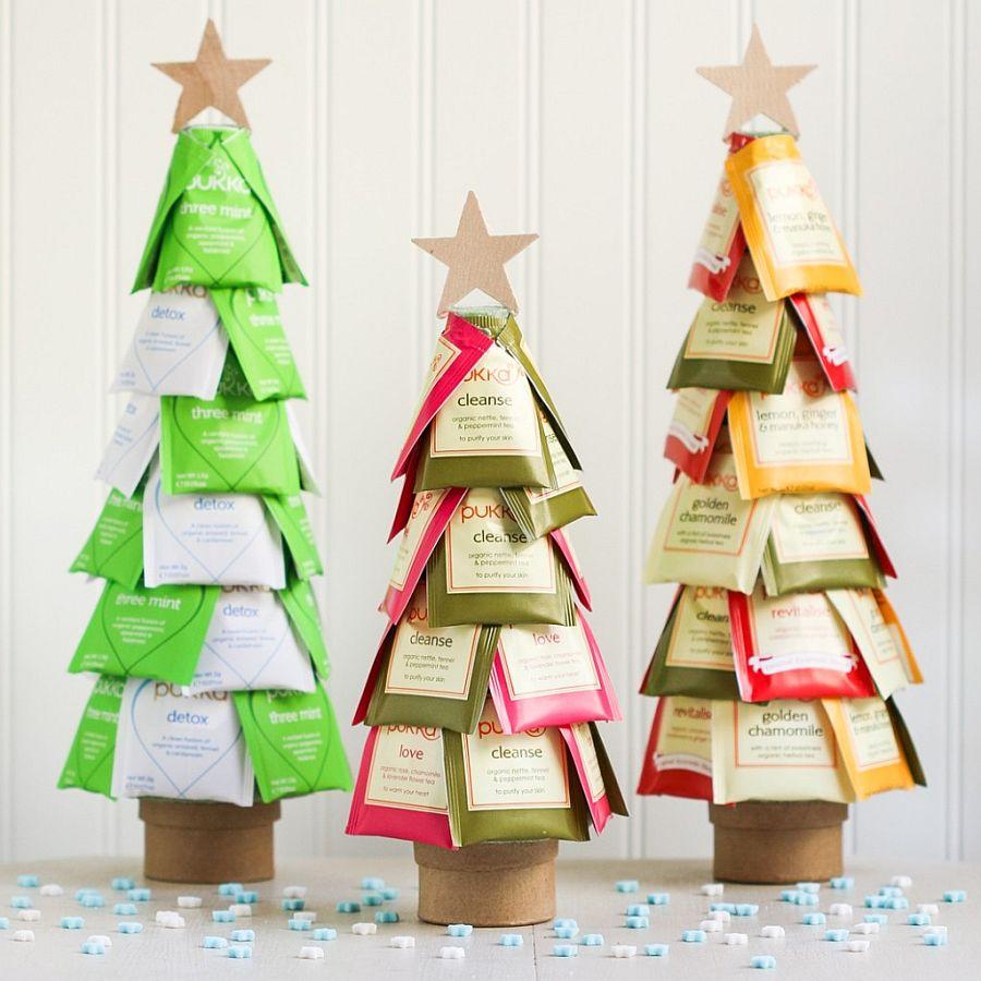 Christmas tree DIY for those who lover their tea!