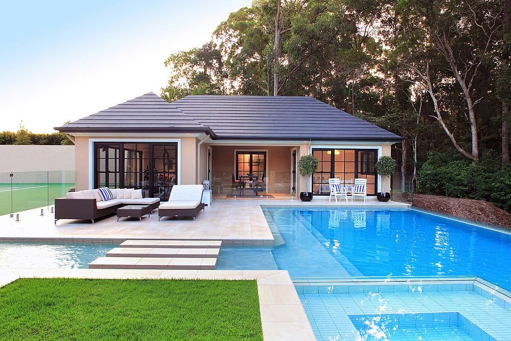 Classic pool house in Brisbane has it all