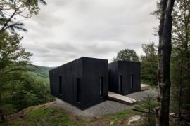 Contemplative Cliffhanger: Minimal Canadian Cabin Takes Your Breath Away!